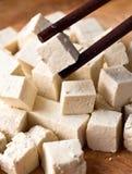 Κύβοι ακατέργαστο tofu Στοκ εικόνες με δικαίωμα ελεύθερης χρήσης