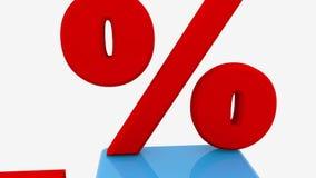 Κύβοι και 25 τοις εκατό στο λευκό διανυσματική απεικόνιση