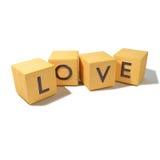 Κύβοι με την αγάπη Στοκ Εικόνα