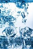 Κύβοι πάγου καθορισμένοι απομονωμένοι στο άσπρο υπόβαθρο Στοκ εικόνες με δικαίωμα ελεύθερης χρήσης