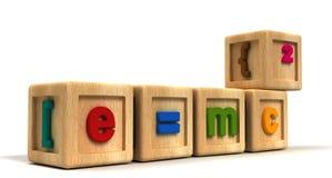 Κύβοι παιδιών Einstein Στοκ Εικόνα