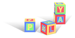 Κύβοι παιχνιδιού Στοκ φωτογραφία με δικαίωμα ελεύθερης χρήσης