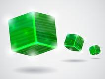 κύβοι πράσινοι Στοκ εικόνα με δικαίωμα ελεύθερης χρήσης