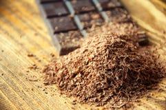 Κύβοι της σοκολάτας και της ξυμένης σοκολάτας Στοκ Εικόνες