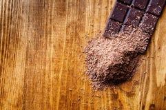 Κύβοι της σοκολάτας και της ξυμένης σοκολάτας Στοκ εικόνες με δικαίωμα ελεύθερης χρήσης