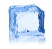 Κύβοι του πάγου σε ένα άσπρο υπόβαθρο Στοκ Εικόνα