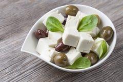 Κύβοι τυριών φέτας Στοκ φωτογραφίες με δικαίωμα ελεύθερης χρήσης