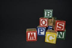 Κύβοι των επιστολών Στοκ φωτογραφία με δικαίωμα ελεύθερης χρήσης