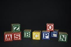 Κύβοι των επιστολών Στοκ Φωτογραφία