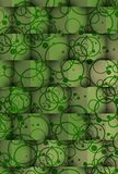 Κύβοι των σκιών στους πράσινους κύκλους Στοκ Εικόνα