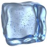 Κύβος πάγου με τις μικρές φυσαλίδες Στοκ Εικόνα