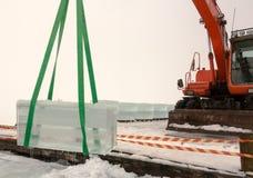 Κύβος πάγου στον αέρα Στοκ εικόνα με δικαίωμα ελεύθερης χρήσης