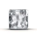 Κύβος πάγου στο άσπρο υπόβαθρο απεικόνιση αποθεμάτων