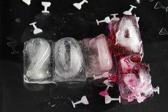 κύβος πάγου του 2015 Στοκ φωτογραφία με δικαίωμα ελεύθερης χρήσης