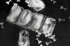 κύβος πάγου του 2015 Στοκ φωτογραφίες με δικαίωμα ελεύθερης χρήσης