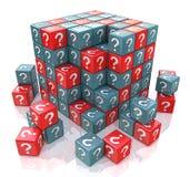 Κύβος FAQ με ερωτηματικά απεικόνιση αποθεμάτων