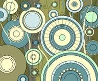 κύκλοι ανασκόπησης Στοκ Εικόνες