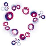 κύκλοι πατριωτικοί Στοκ Εικόνες