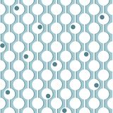 Κύκλοι στις κάθετες γραμμές οδηγών γεωμετρικό πρότυπο άνευ ραφής Λευκό στο μπλε απεικόνιση αποθεμάτων