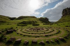 Κύκλοι της νεράιδας Glen, Skye, Σκωτία στοκ φωτογραφία