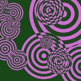 κύκλοι 1 αναδρομικοί Στοκ Εικόνες