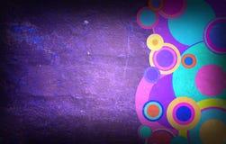 Κύκλοι Grunge στον τοίχο Στοκ εικόνες με δικαίωμα ελεύθερης χρήσης