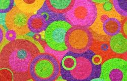 Κύκλοι Grunge στον τοίχο Στοκ Φωτογραφία