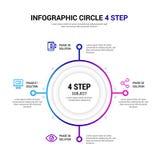 Κύκλος 4 βήμα Infographic Στοκ φωτογραφία με δικαίωμα ελεύθερης χρήσης