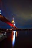 Κύκλος γεφυρών τη νύχτα στην Ταϊλάνδη Στοκ εικόνα με δικαίωμα ελεύθερης χρήσης