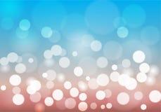 Κύκλος και θαμπάδα αστεριών Bokeh ως περίληψη και ουρανό α συγκίνησης Στοκ Εικόνες