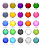 κύκλος κουμπιών Στοκ εικόνες με δικαίωμα ελεύθερης χρήσης