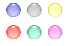 κύκλος κουμπιών aqua Στοκ Φωτογραφία