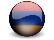 κύκλος σημαιών της Αρμενί&alph Στοκ Εικόνες