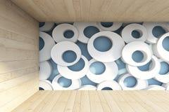 Κύκλος στον τοίχο Στοκ Εικόνες