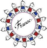 Κύκλος της Γαλλίας ελεύθερη απεικόνιση δικαιώματος