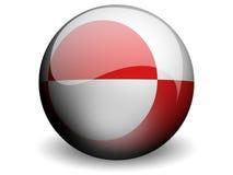 κύκλος της Γροιλανδίας σημαιών Στοκ φωτογραφία με δικαίωμα ελεύθερης χρήσης