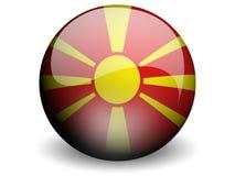 κύκλος της Μακεδονίας σημαιών Στοκ Φωτογραφία