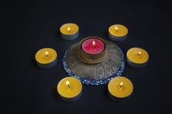 Κύκλος των κεριών στοκ φωτογραφία με δικαίωμα ελεύθερης χρήσης