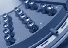 Κύκλος των φιαλιδίων - μπλε στοκ εικόνες