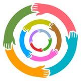 κύκλος χεριών απεικόνιση αποθεμάτων