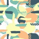 Κύκλος χρώματος χαοτικός κύκλος σχεδίων πρότυπο άνευ ραφής αφηρημένη ανασκόπηση διανυσματική απεικόνιση