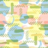Κύκλος χρώματος χαοτικός κύκλος σχεδίων πρότυπο άνευ ραφής αφηρημένη ανασκόπηση ελεύθερη απεικόνιση δικαιώματος