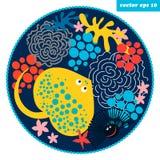 κύκλος ψαριών κινούμενων σχεδίων Στοκ εικόνα με δικαίωμα ελεύθερης χρήσης