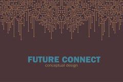 κύκλωμα ανασκόπησης ηλεκτρονικό Spu Σχέδιο γραμμών κυκλωμάτων Μελλοντική έννοια απεικόνιση αποθεμάτων