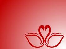 κύκνος καρδιών Διανυσματική απεικόνιση