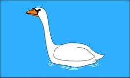 Κύκνος που κολυμπά στη λίμνη Στοκ φωτογραφίες με δικαίωμα ελεύθερης χρήσης