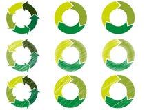 Κύκλος βελών στο βιώσιμο χρώμα Στοκ Εικόνα