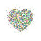 Κύκλοι εικονιδίων καρδιών Στοκ Φωτογραφίες