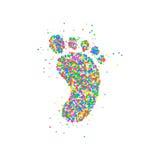 Κύκλοι εικονιδίων ποδιών Στοκ φωτογραφίες με δικαίωμα ελεύθερης χρήσης