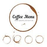 Κύκλοι λεκέδων καφέ Στοκ Εικόνες